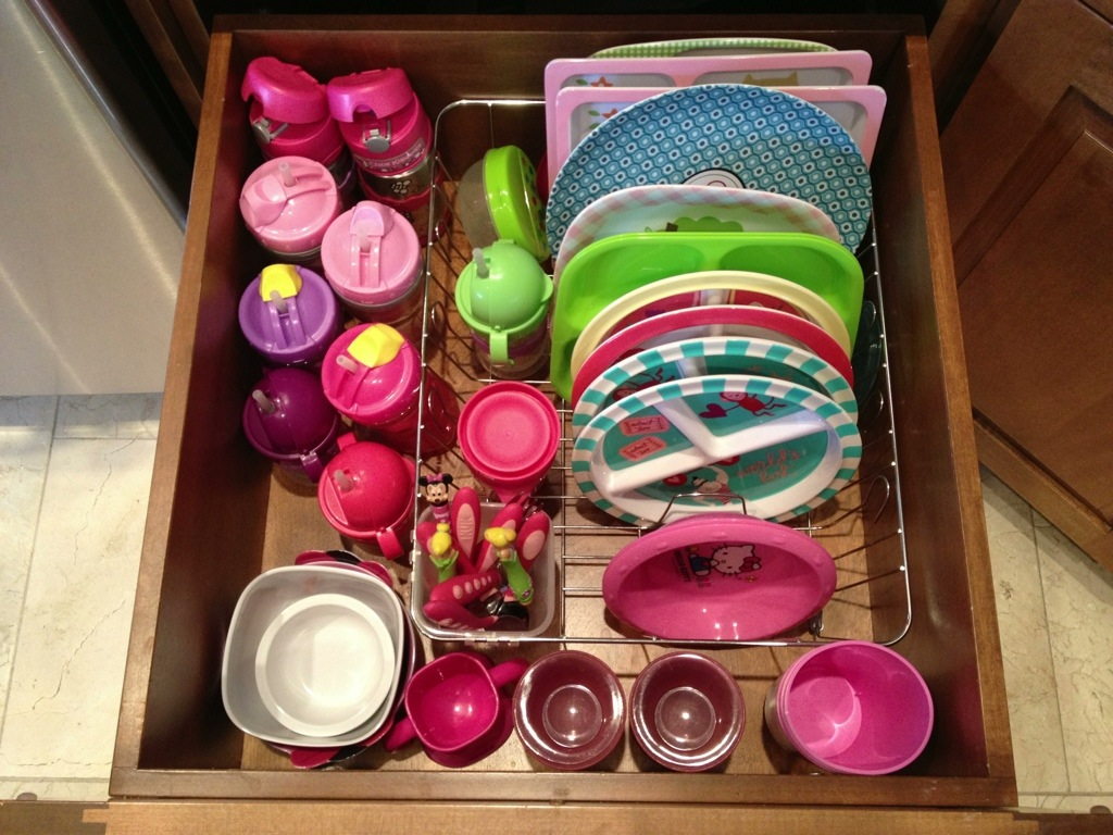 Organizing That Sea Of Kid Dishes Remodelicious