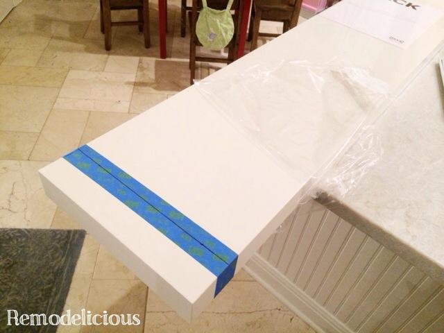 cutting an ikea lack shelf to size remodelicious. Black Bedroom Furniture Sets. Home Design Ideas