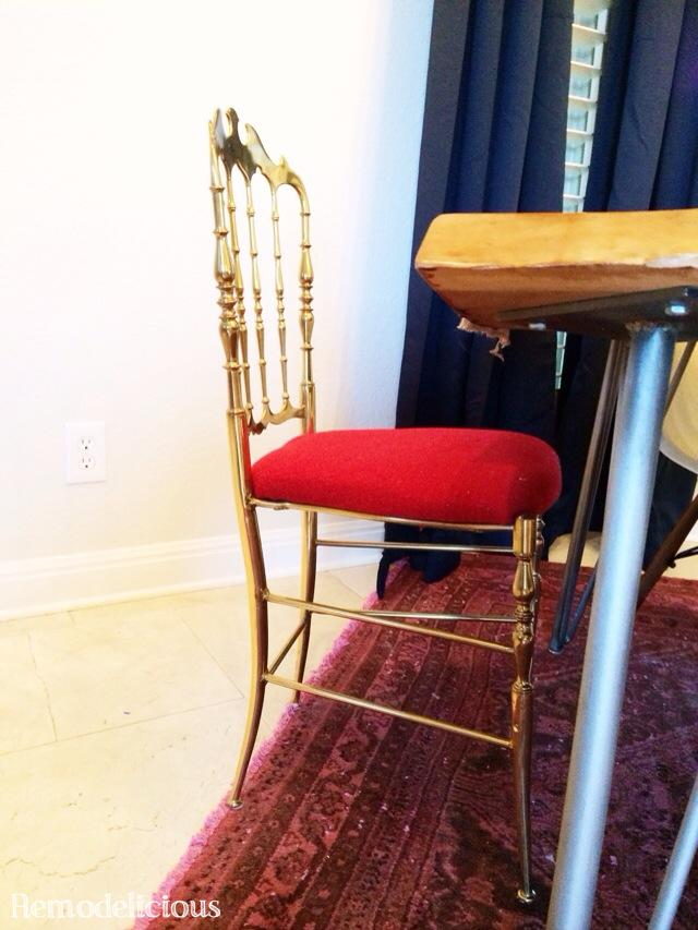 Our New Statement Dining Chairs Vintage Brass Chiavari