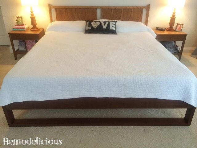 Diy King Sized Modern Platform Bed Remodelicious
