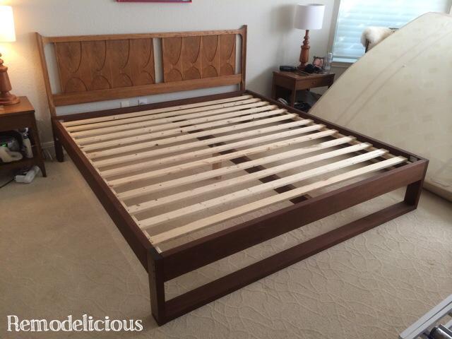 Diy king sized modern platform bed remodelicious for Diy modern platform bed