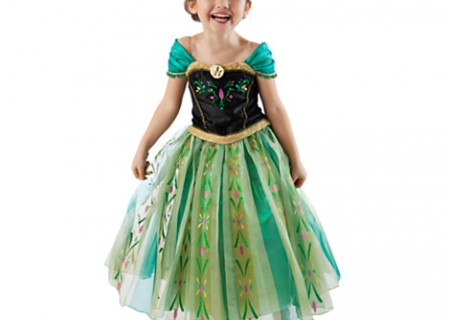 The Disney Store Anna Coronation Gown Costume is BEAUTIFUL and would make any little girl smile if their parents are lucky enough to find one and willing to fork over $89 + tax for it.