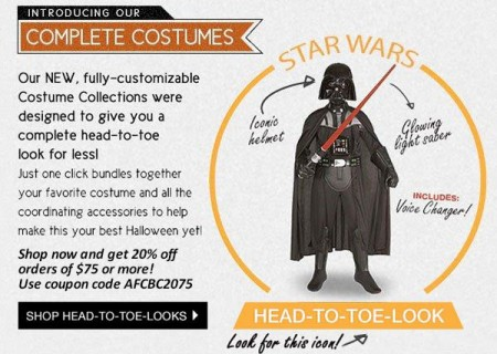 Head-to-Toe Complete Halloween Costume Packages